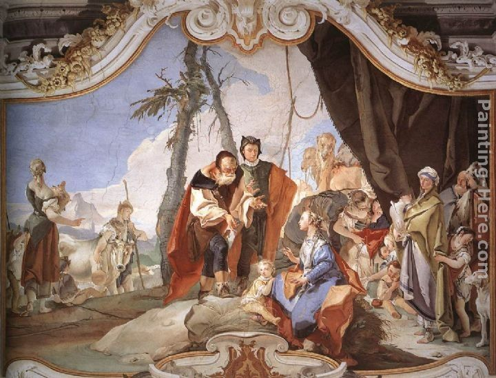 Giovanni Battista Tiepolo Rachel Hiding the Idols from her Father Laban