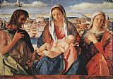 Giovanni Bellini Madonna and Child with St. John the Baptist and a Saint painting
