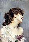 Giovanni Boldini Profile Of A Young Woman painting