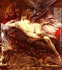 Giovanni Boldini Reclining Nude painting