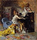 Giovanni Boldini Woman at a Piano painting