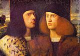 Giovanni Cariani Portrait of Two Young Men painting
