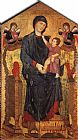 Giovanni Cimabue Madonna Enthroned with the Child and Two Angels painting