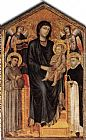 Giovanni Cimabue Madonna Enthroned with the Child, St Francis St. Domenico and two Angels painting