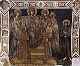 Giovanni Cimabue Madonna Enthroned with the Child, St Francis and four Angels painting