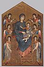 Giovanni Cimabue Virgin Enthroned with Angels painting