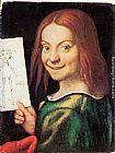 Giovanni Francesco Caroto Read-headed Youth Holding a Drawing painting