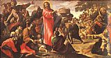 Giovanni Lanfranco Miracle of the Bread and Fish painting