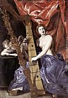 Giovanni Lanfranco Venus Playing the Harp (Allegory of Music) painting