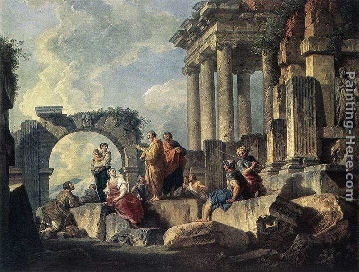 Giovanni Paolo Pannini Apostle Paul Preaching on the Ruins