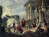 Giovanni Paolo Pannini Apostle Paul Preaching on the Ruins painting