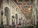 Giovanni Paolo Pannini Interior of the San Giovanni in Laterano in Rome painting