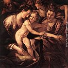 Giulio Cesare Procaccini The Mystic Marriage of St Catherine painting