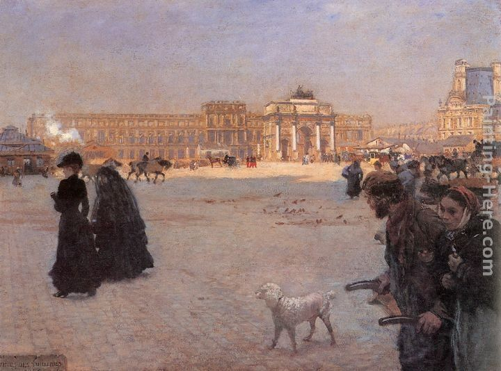 Giuseppe de Nittis The Place de Carrousel and the Ruins of the Tuileries Palace in 1882