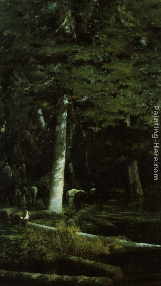 Giuseppe de Nittis Wood Felling in a Forest