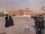 Giuseppe de Nittis The Place de Carrousel and the Ruins of the Tuileries Palace in 1882 painting