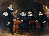 Govert Teunisz Flinck Four Governors of the Arquebusiers' Civic Guard painting