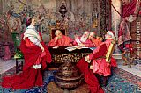 Guiseppe Signorini Cardinal Richelieu And His Council painting