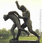 Gustav Vigeland Father Punishing Son painting