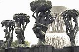 Gustav Vigeland Trees and People painting