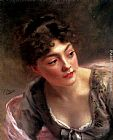 Gustave Jean Jacquet A Quick Glance painting