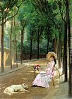 Gustave Leonhard de Jonghe A Lazy Afternoon painting