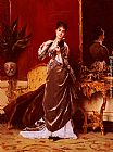 Gustave Leonhard de Jonghe Dressing For The Ball painting