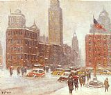 Guy Carleton Wiggins Fifth Avenue At Madison Square painting