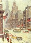Guy Carleton Wiggins Mid-Town Storm painting