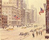 Guy Carleton Wiggins Winter's Day, Fifth Avenue painting