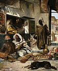 Gyula Tornai An Arms Merchant in Tangiers painting
