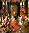 Hans Memling The Mystic Marriage Of St. Catherine Of Alexandria (central panel of the San Giovanni Polyptch) painting