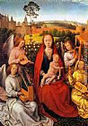 Hans Memling Virgin and Child with Musician Angels painting