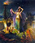 Hans Zatzka Arabian Nights painting