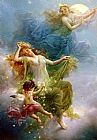 Hans Zatzka In The Night Sky painting