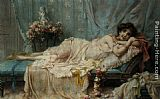 Hans Zatzka Reclining Beauty painting