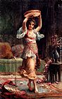 Hans Zatzka The Tambourine Player painting