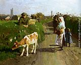 Harold Harvey Near Penzance painting