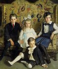 Harrington Mann A Family Portrait of Four Children painting