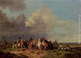 Heinrich Burkel The Horse Round-Up painting