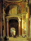 Heinrich Hansen Interior of St. Peters, Rome painting