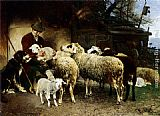 Heirich von Zugel The Young Shepherd painting