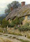 Helen Mary Elizabeth Allingham A Mother And Child Entering A Cottage painting