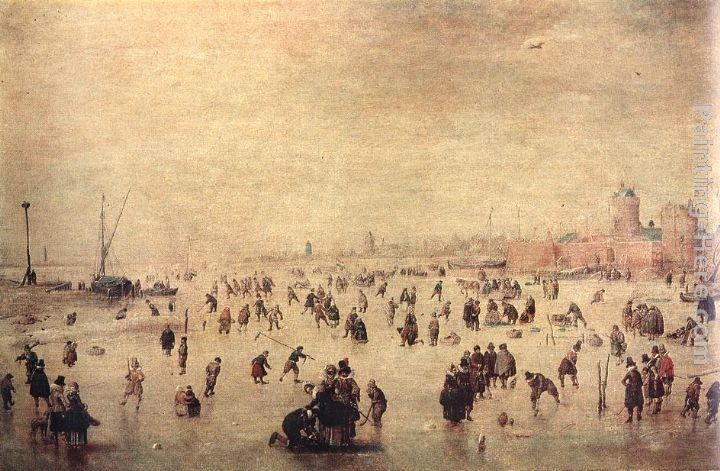 Hendrick Avercamp Skaters