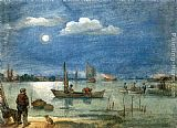 Hendrick Avercamp Fishermen by Moonlight painting