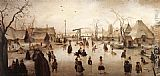 Hendrick Avercamp Ice Scene painting