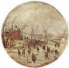 Hendrick Avercamp Winter Landscape with Skaters painting