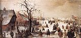 Hendrick Avercamp Winter Scene on a Canal painting