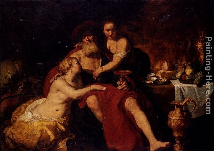 Hendrick Bloemaert Lot And His Daughters