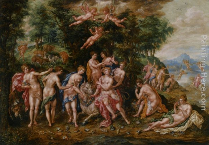 Hendrick De Clerck The Rape of Europa
